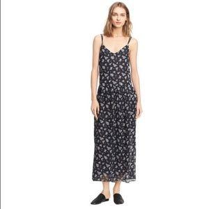 Vince calico silk dress